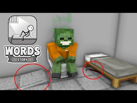Monster School - WORDS STORY CHALLENGE - Minecraft Animation
