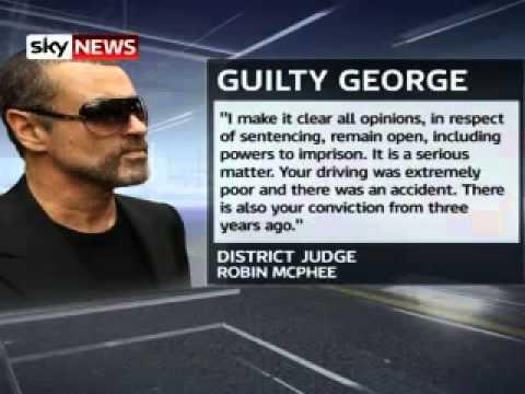 George Michael został skazany