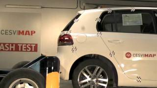 Crash test trasero Golf VI