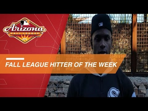 Video: Luis Robert wins Fall League Hitter of the Week