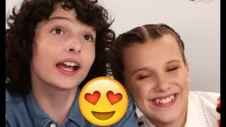 Millie Bobby Brown and Finn Wolfhard 😍😍😍- CUTE AND FUNNY MOMENTS (Stranger Things 2017)