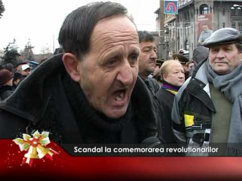 Scandal la comemorarea revoluţionarilor
