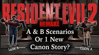 How will the scenarios shake out in RE2 Remake?Will there be 4? 2? Or 1 Mega Story?Subscribe: https://goo.gl/HAvfDUThe original Resident Evil 2 had 4 different scenarios. Leon A, Claire B, and Claire A, Leon B. In actuality there were 2 stories in alternate timelines with minimal differences. So how will Resident Evil 2 Remake handle this convoluted system that's canon storyline coming out of it was actually a combination of all 4 of these stories. Will they keep it the same, or will they narrow it down? We have to ask, Are more changes coming?RESIDENT EVIL 2 REMAKETHEORY CHANGES: Co-op ► https://goo.gl/zmucwuCHANGES: New Camera Angles ► https://goo.gl/VsPMN7CHANGES: New Game Engine ► https://goo.gl/rECNKFCHANGES: New Character Models ► https://goo.gl/LCgPPZCHANGES: New Voice Actors ► https://goo.gl/VoiSPtSummary Of What We Know ► https://goo.gl/JNUyWYWhy Wasn't RE2 Remake At E3? ►  https://goo.gl/xd1yN4RE7 NOT A HERO ► https://goo.gl/2pSVC1WHERESBARRY ON SOCIAL MEDIATwitter ► http://www.twitter.com/wheresbarryBFacebook ► http://goo.gl/nHTBQ9Instagram ►https://www.instagram.com/wheresbarrybMUSICI Knew a Guy by Kevin MacLeod is licensed under a Creative Commons Attribution license (https://creativecommons.org/licenses/by/4.0/)Source: http://incompetech.com/music/royalty-free/index.html?isrc=USUAN1100199Artist: http://incompetech.com/