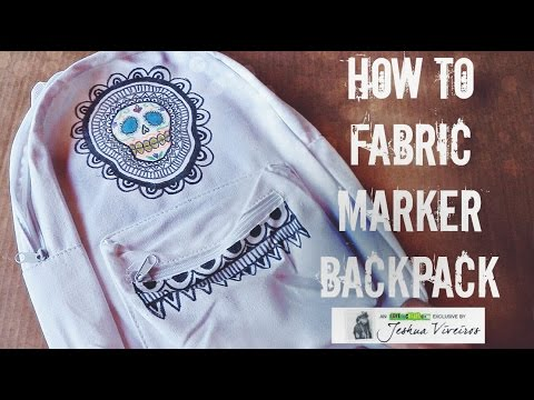 How to Fabric Marker backpack