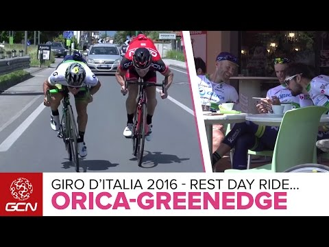 Rest Day Ride With Orica-GreenEDGE –Sprint Tips With Caleb Ewan + Coffee With Esteban Chaves