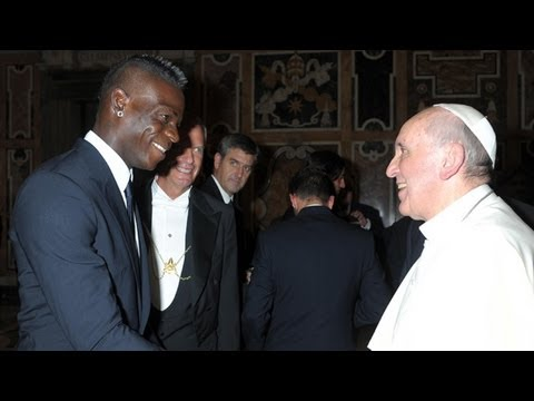 Pope Francis' private audience with Italy and Argentina football teams