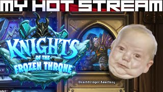 Live streams, first impressions and let's plays daily/weekly.  Hearthstone - Knights of the Frozen Throne - The Lower Citadel (Deathbringer Saurfang).████████████████████████████████████████████This Death Knight plays for keeps.  Better bring a weapon!████████████████████████████████████████████Like CCGs?  Check out my other playlists at the end of the video.  Know a good CCG?  Post a comment and tell me about it, willing to play new CCGs on channel whenever I come across them!████████████████████████████████████████████SOCIALSTwitch: https://www.twitch.tv/myhotstreamFacebook: https://www.facebook.com/carlos.diadebueyesTwitter: https://twitter.com/CarlosDiaDeBueyPatreon: https://www.patreon.com/MyHotStream████████████████████████████████████████████