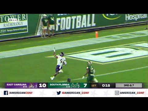 2020 American Football Highlights: East Carolina 44, USF 24