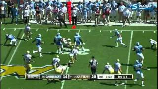 Kevin Reddick vs Georgia Tech (2011)