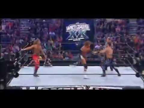 Video Triple H vs Shawn Michaels vs Chris Benoit WrestleMania 20 Highlights download in MP3, 3GP, MP4, WEBM, AVI, FLV January 2017