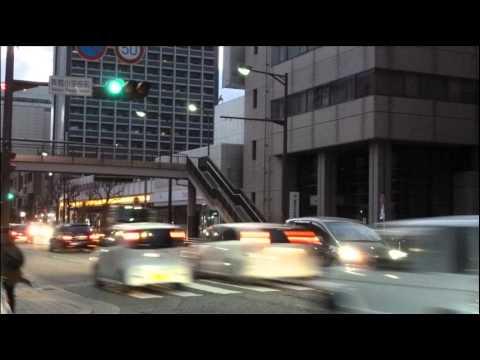 音響式信号 福岡市中央区舞鶴小学校前交差点(那の津通り方向