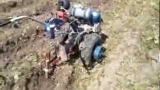 Автоматическая копка картофеля мотоблоком МоторСич 2013