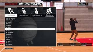 How to find the right jumpshot in Nba2k17