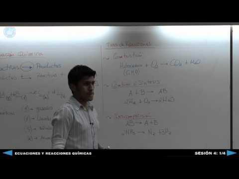 Ecuaciones y Reacciones Químicas -  Sesión 4 1/4