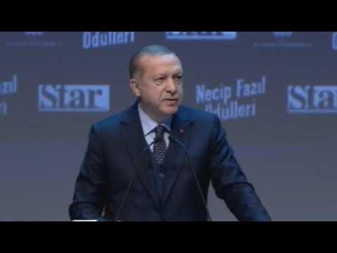 Cumhurbaşkanı Recep Tayyip ERDOĞAN Necip Fazıl Ödülleri Programı