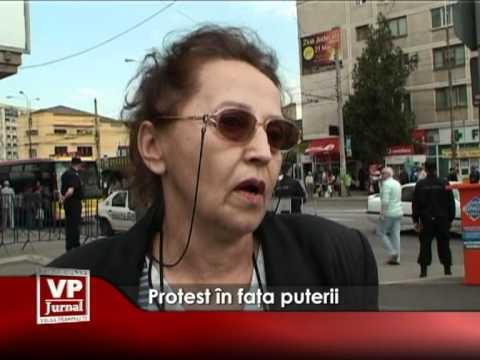 Protest în faţa puterii