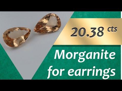 Morganite Earrings: Design Unique Earrings with Morganite 20.38 Carats