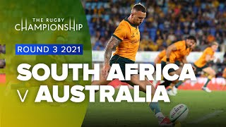South Africa v Australia Rd.3 2021 Rugby Championship video highlights