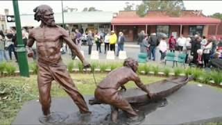 The New South Wales town of Gundagai could have been wiped out during the Great Flood of 1852, if it wasn't for the efforts of two Wiradjuri men. Over the weekend, on the 165th anniversary of the flood, Gundagai unveiled a sculpture honouring Yarri and Jacky Jacky who risked their lives to rescue almost a third of the town's population. NITV's Amanda Copp reports for 'The Point'.Broadcast vision courtesy of http://ourmob.org.au/ and NSWALC