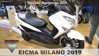 3. 2020 New Suzuki Burgman 200 Walakround at EICMA 2019 Fiera Milano Rho