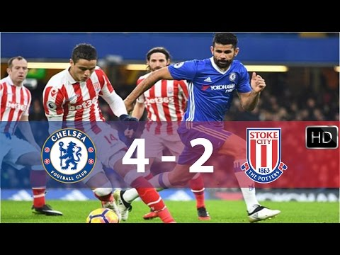 Chelsea vs Stoke City| 4 - 2 | All Goals & Highlights ||HD|| 31/12/16