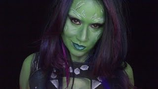 Only In Ur Mind: Welcome to Only In Ur Mind.  This week's makeup is another Guardian's of the Galaxy vol. 2 movie video of Gamora.  I have been struggling with makeups to do lately and Gamora is such a beautiful character to do.   I hope you enjoy!Make-up used Mehron paradise paint: light green  Tag: silver Wolfe face: whiteCameleon: blackFAB: dark greenEyeshadow: light green, white, light purple, dark purple, and dark greenmusic by: YouTube library For most of the products I use please check out my affiliate link : https://store.facepaint.com/tasharo.html
