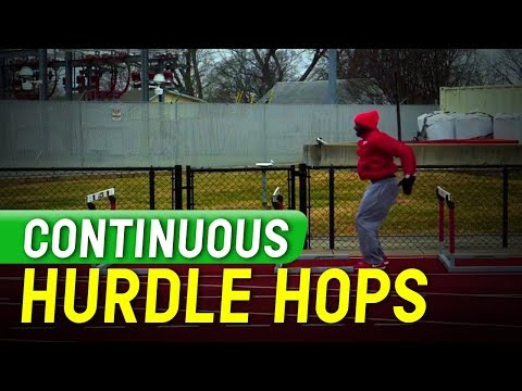 Sprints And Relay Tips - Continuous Hurdle Hops - Coach Erik Jenkins