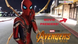 Video REAL LIFE INFINITY WAR SPIDER-MAN SUIT! (REVIEW) *PLUS MOVIE PREMIERE* MP3, 3GP, MP4, WEBM, AVI, FLV September 2018