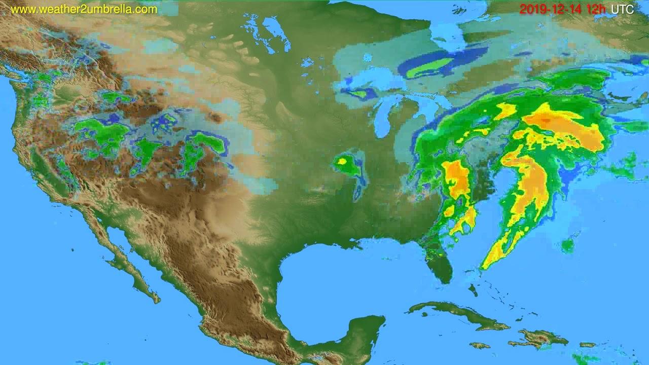 Radar forecast USA & Canada // modelrun: 00h UTC 2019-12-14
