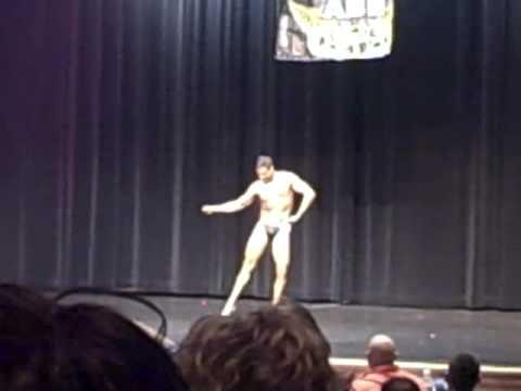Greg Castro Posing at Western Michigan Bodybuilding Championships