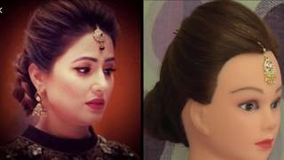 Download Easy Wedding Hairstyle Inspired By Hina Khan Wedding