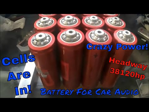 Headway 38120hp 200 Amp Unboxing. Building A 40ah Battery For CAR AUDIO