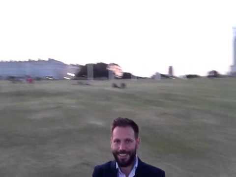 Plymouth Hoe selfie video using a Selfie Pod selfie stick