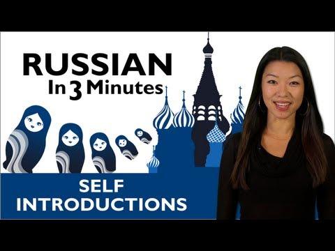 Sich auf russisch vorstellen
