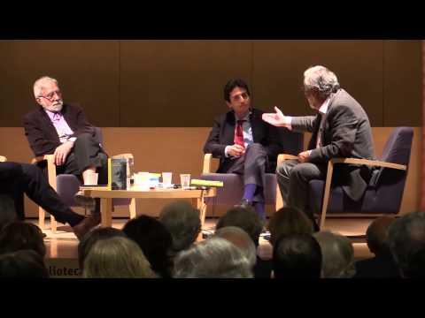 Presentació de 'Converses amb Josep Rius-Camps' a Barcelona, amb Joan Ferrer i Vicenç Villatoro