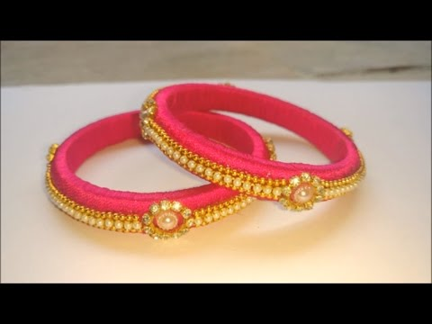 how to make silk thread bangles at home | indian silk thread bangles, diy silk thread bangles