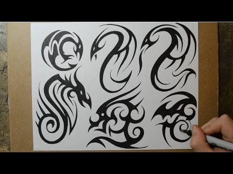 Tribal Dragon Tattoo Designs – Sketching Ideas