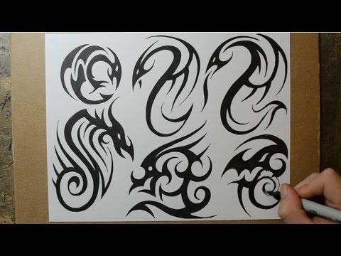 Tribal Dragon Tattoo Designs – Sketching Ideas