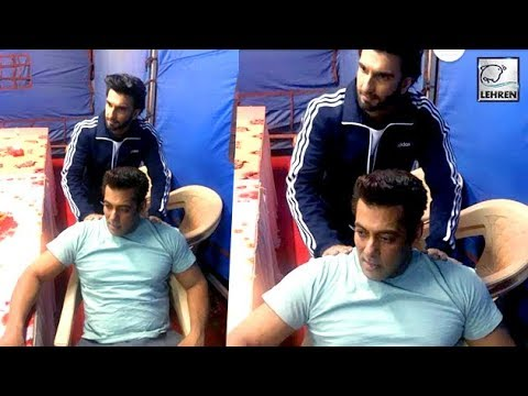 Ranveer Singh Gives Salman Khan A Back Massage On
