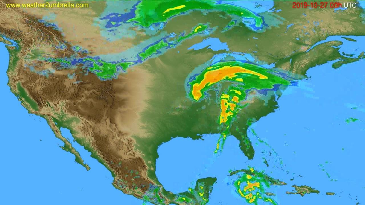 Radar forecast USA & Canada // modelrun: 12h UTC 2019-10-26