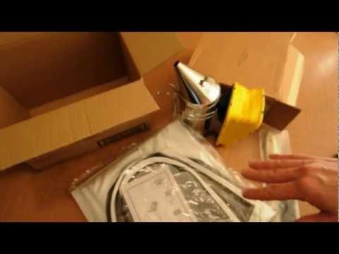 Beekeeping supplies unboxing