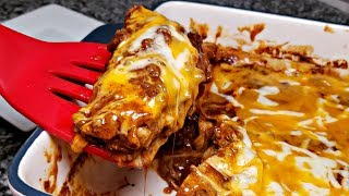 Beef and Cheese Enchiladas Recipe | Easy Tex Mex Enchiladas | Enchilada Sauce Recipe
