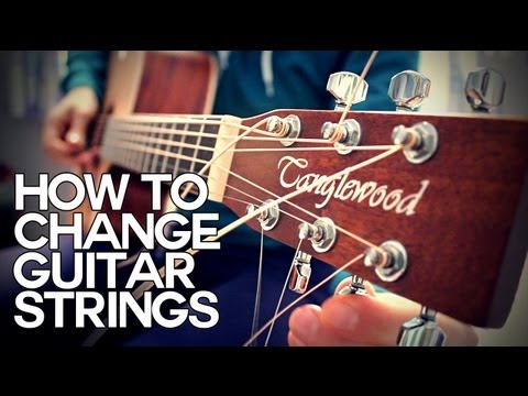 ☆ HOW TO CHANGE ACOUSTIC GUITAR STRINGS – GUITAR BASICS ☆