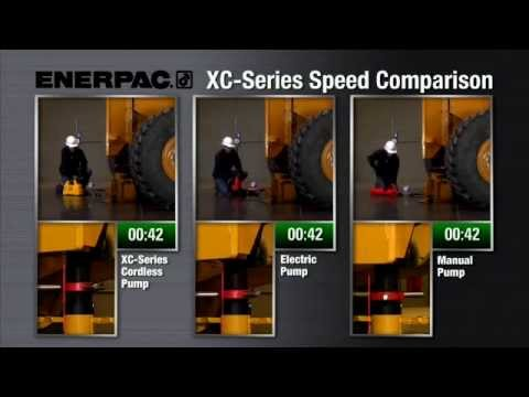 Enerpac XC-Series Cordless Pump Speed Comparison