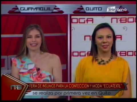 Feria de insumos par ala confección y moda Ecuatextil se realiza por primera vez en Quito