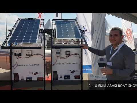 2018 Tuzla Boat Show Eurasia Çalışır Solar Panel Standlarımız