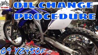 10. Yamaha YZ450f 2009 Oil Change - CORRECTED