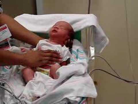 Newborn in neonatal intensive care unit