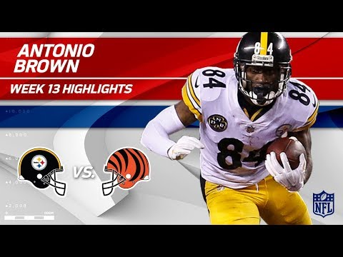 Video: Antonio Brown's Big Night w/ 101 Yards & 1 TD vs. Cincy! | Steelers vs. Bengals | Wk 13 Player HLs