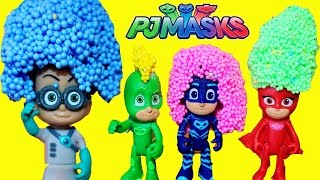 PJ MASKS SUPERHERO NEW CARS + MAKEOVER PlayFoam Gekko Romeo Catboy Owlette Luna Girl Night Ninja